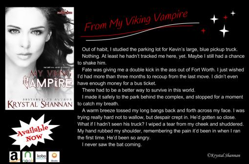 My Viking Vampire Excerpt Graphic