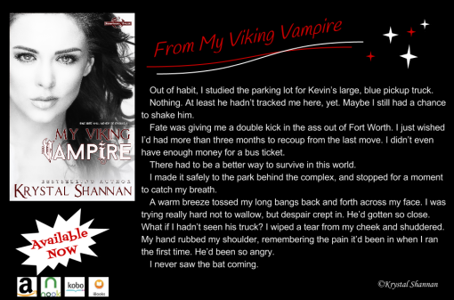 My Viking Vampire Excerpt Graphic